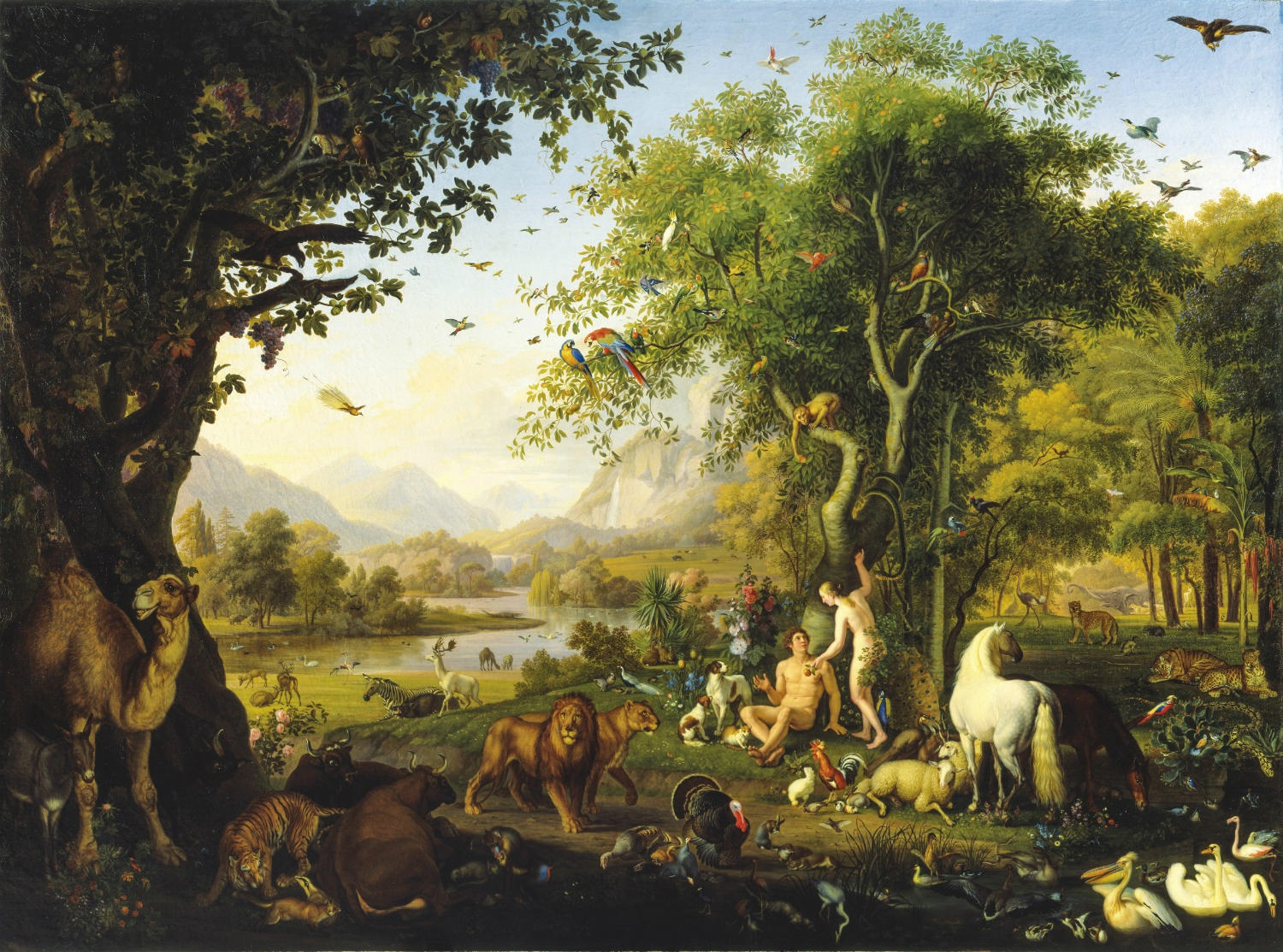 Johann_Wenzel_Peter_-_Adam_and_Eve_in_the_earthly_paradise
