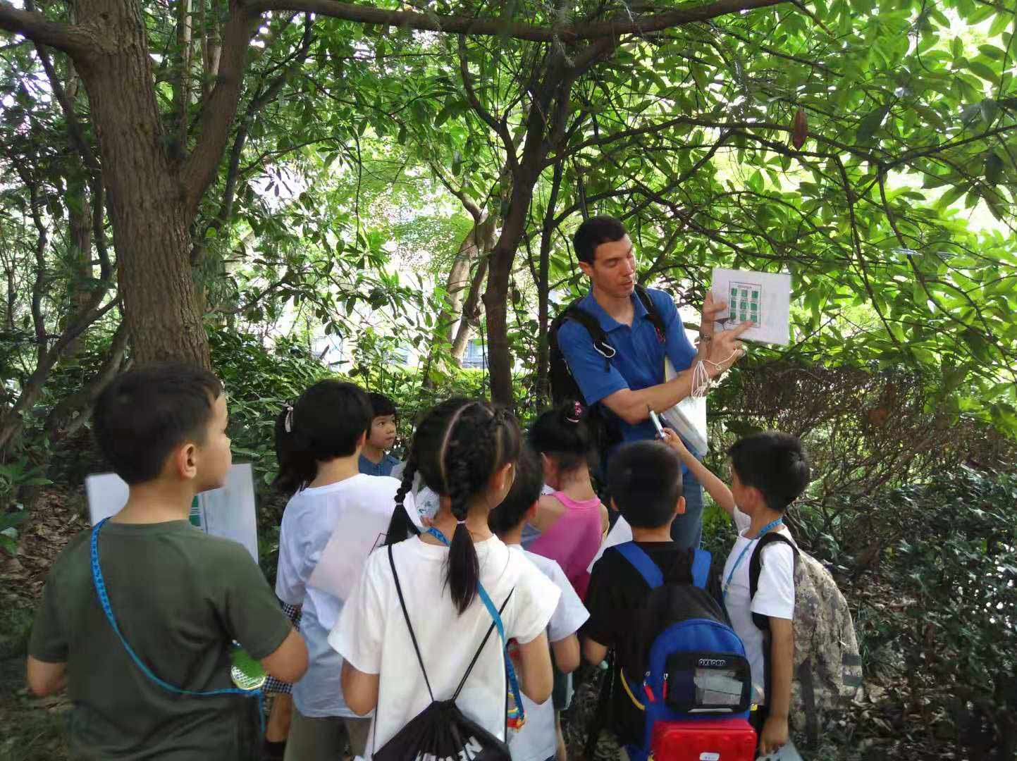 Nature Guide training with students