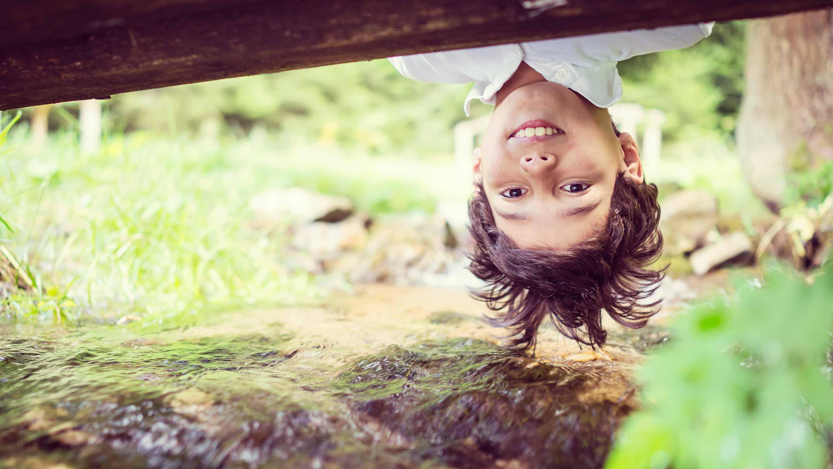 child boy in nature